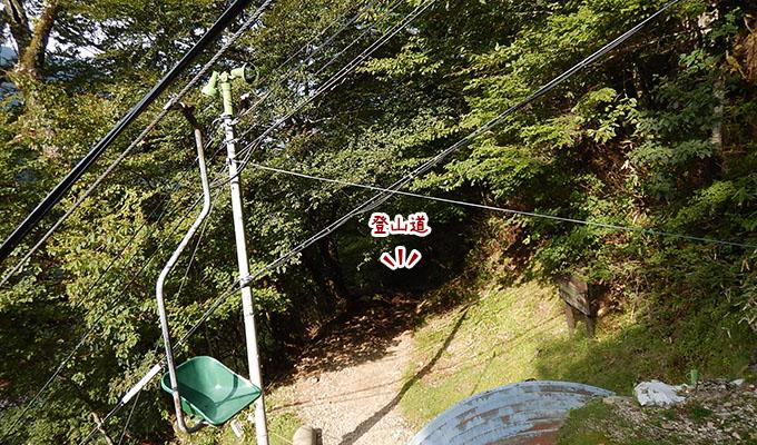 剣山レポ_下りリフトから見える登山道