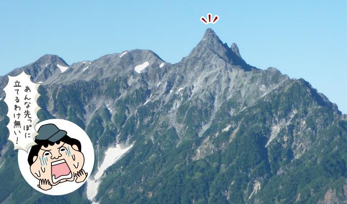 稜線から見る槍ヶ岳