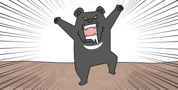熊が襲ってくる