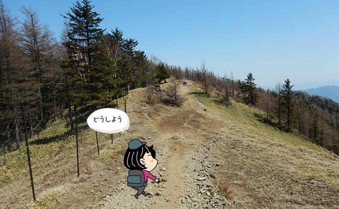 雲取山山頂から下山2