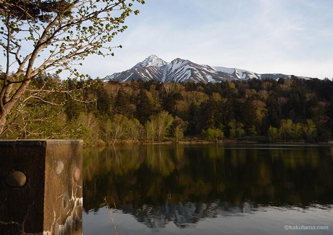 利尻島姫沼と利尻山