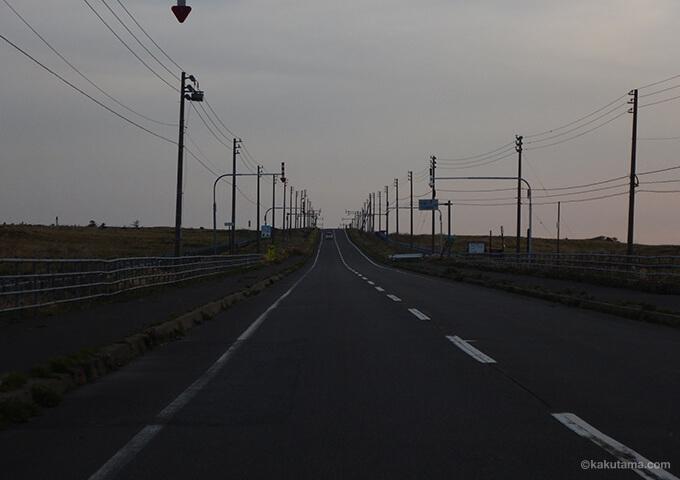 利尻島の道路