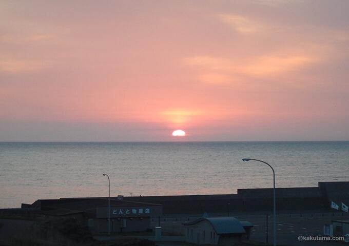 アイランドインリシリから見た夕焼け