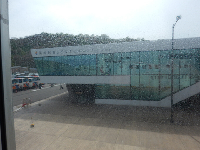 利尻島のフェリーターミナル