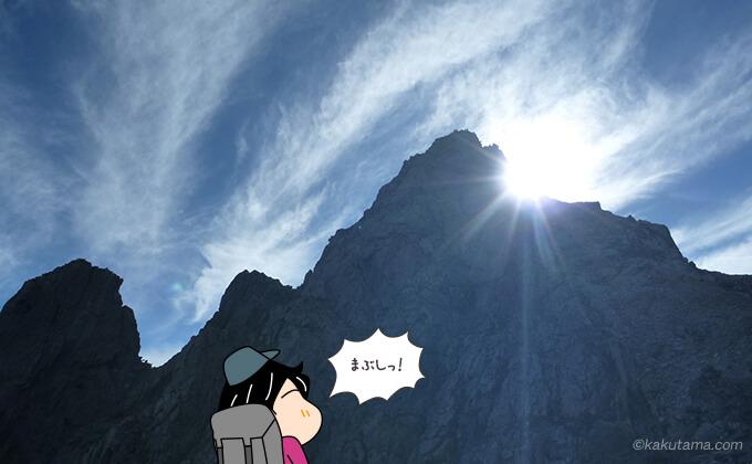 槍ヶ岳のシルエット