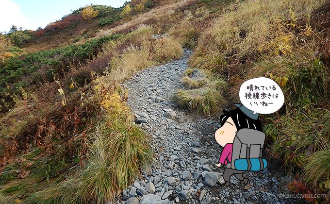 大滝山との分岐の稜線