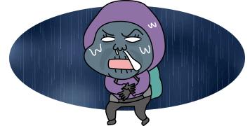 イラスト雨に濡れている