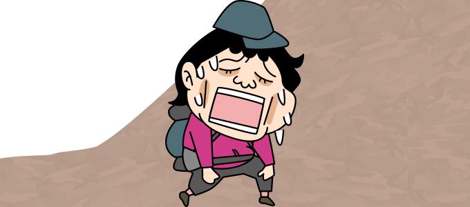 登り疲れた顔2