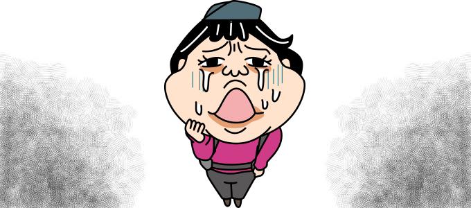 イラスト泣く泣く