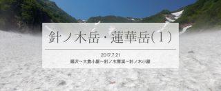 大雪渓に高山植物!見どころ満載の針ノ木エリアでテント泊(1)