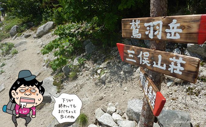 三俣山荘につながる分岐点