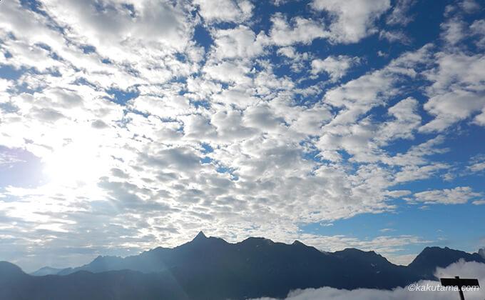 きれいな空と槍ヶ岳