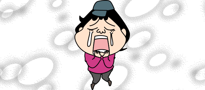 泣いている顔のイラスト