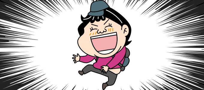 大喜びの顔のイラスト