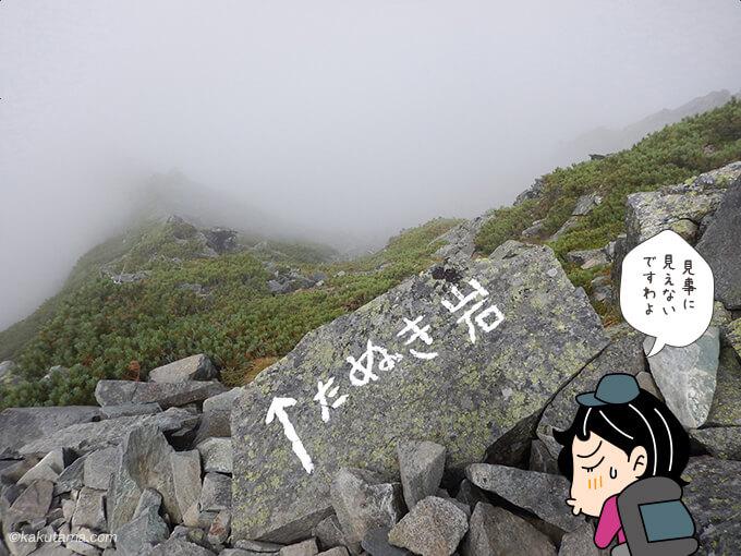 たぬき岩が見えない