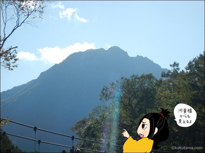 河童橋から見る焼岳