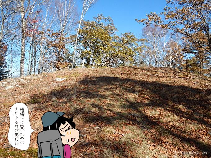 高丸山の登ったらすぐ下り