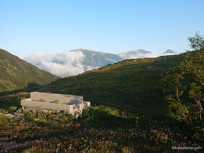 朝日小屋から見る白馬岳