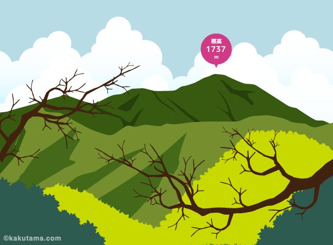 鷹ノ巣山のイラスト