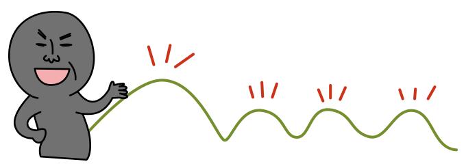 栂海新道には数々の山のピークがある