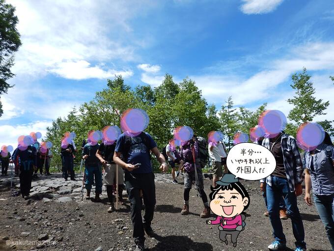 外国人だらけの富士山