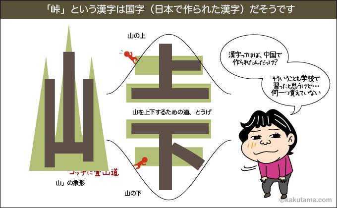 峠という漢字