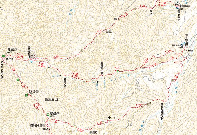 ドンドコ沢地図
