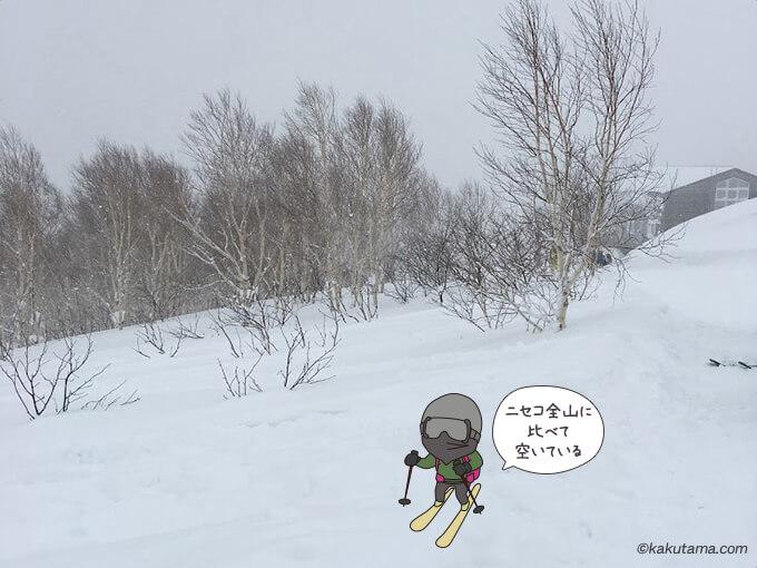 ニセコモイワリゾートには新雪がたくさん