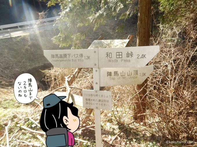 陣馬山登山口標識