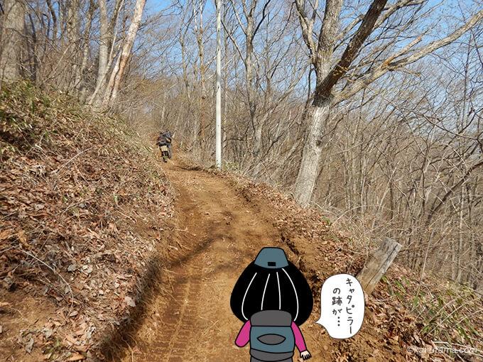 土の道を登る