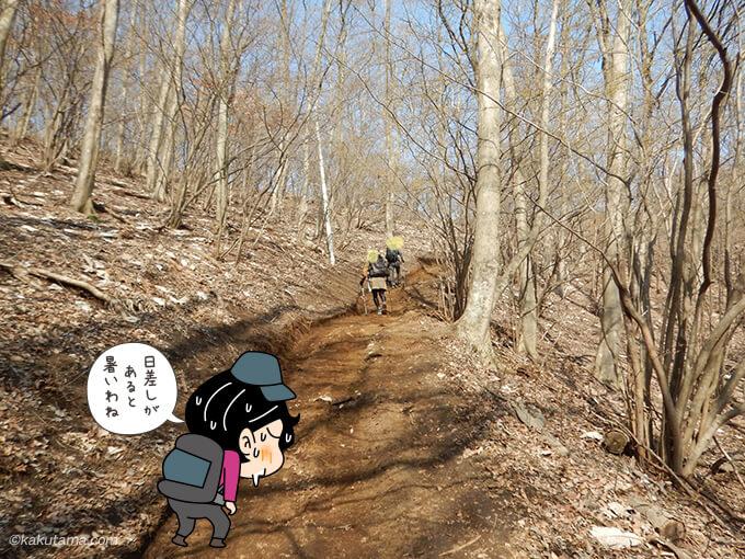 土の道を登る2