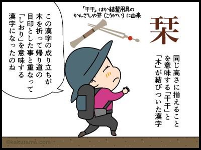 「枝折り」に関する4コマ漫画2