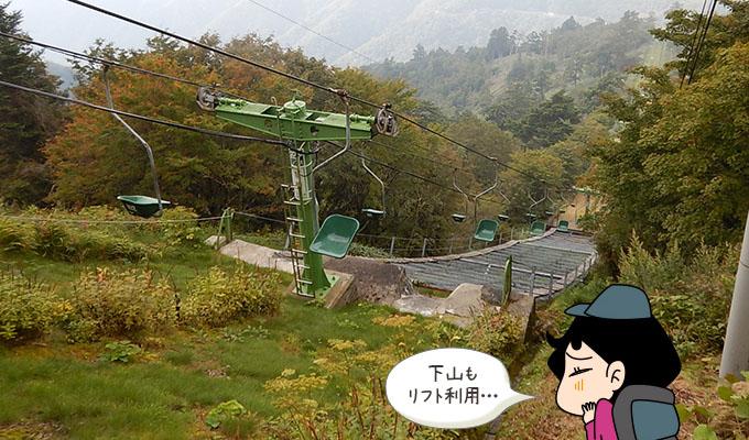 剣山レポ_下りリフト乗り場