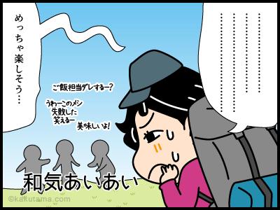 ワンダーフォーゲルに関する4コマ漫画2