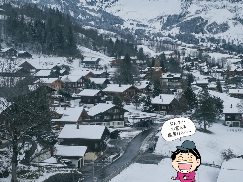 雪が降る街の写真