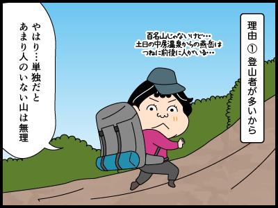 日本百名山にまつわる4コマ漫画2