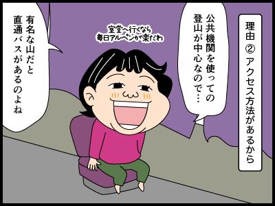 日本百名山にまつわる4コマ漫画3