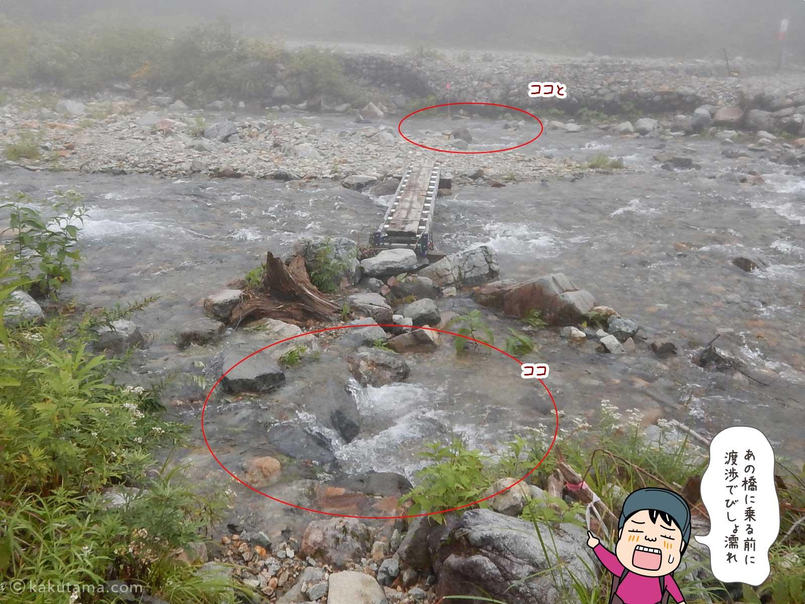登山用語「渡渉」にまつわる写真