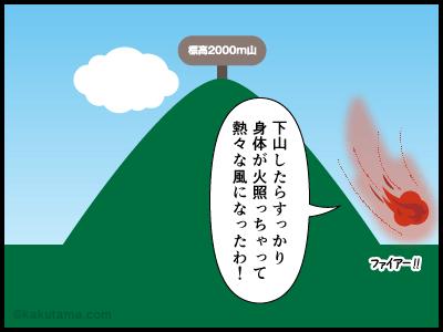 フェーン現象にまつわる4コマ漫画4