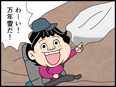 万年雪にまつわる4コマ漫画1