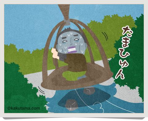 登山用語「籠渡し」に関するイラスト