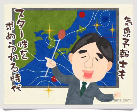 登山用語気象予報士のイラスト
