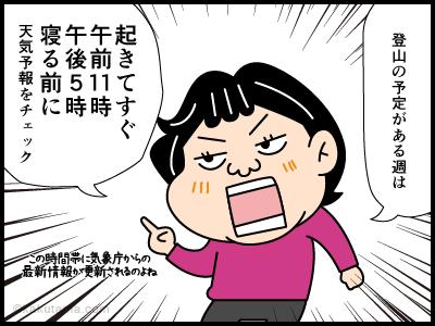 気象予報に関する4コマ漫画1