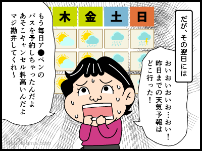 気象予報に関する4コマ漫画3