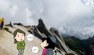 燕岳イルカ岩
