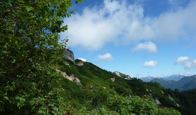 燕山荘からの下山風景3