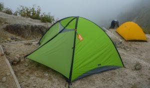 テントを設置