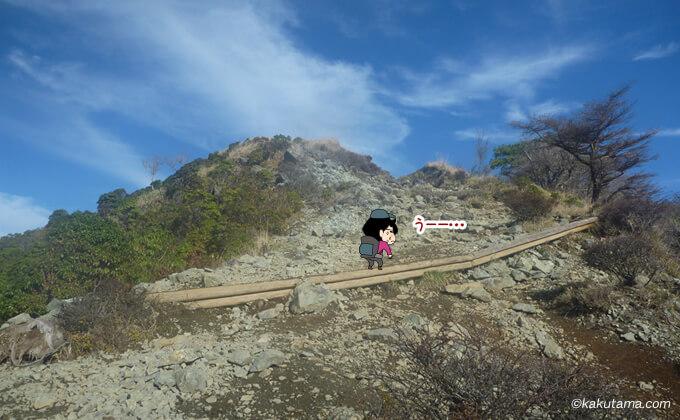 大倉尾根後半の辛い登り
