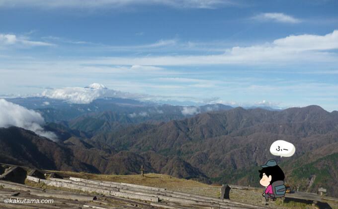 塔ノ岳山頂の風景