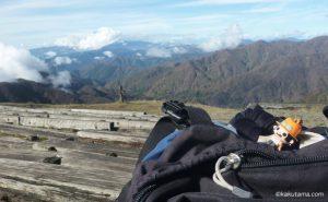 塔ノ岳の穏やかな山頂